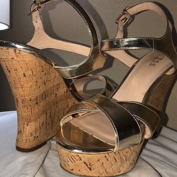 Guess Shoes - GUESS wedged strapped sandals